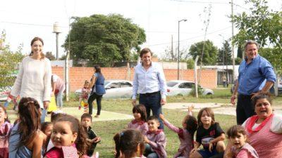 Vidal recorrió un centro de primera infancia  en San Miguel junto al intendente Méndez
