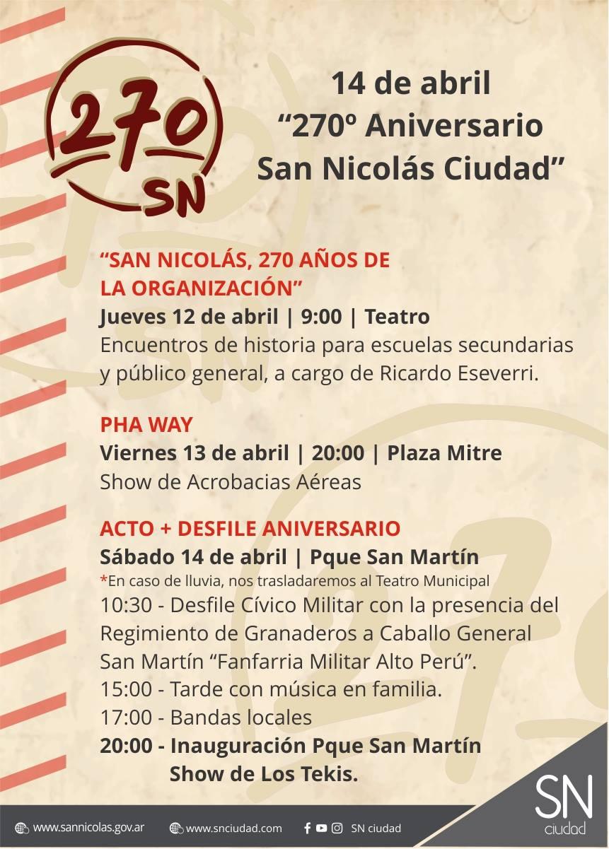 San Nicolás cumple 270 años y te mostramos el cronograma de los festejos