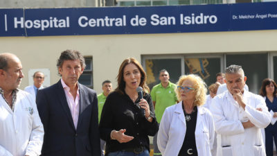 San Isidro / Posse anunció junto a Vidal los avances del plan de control del cáncer