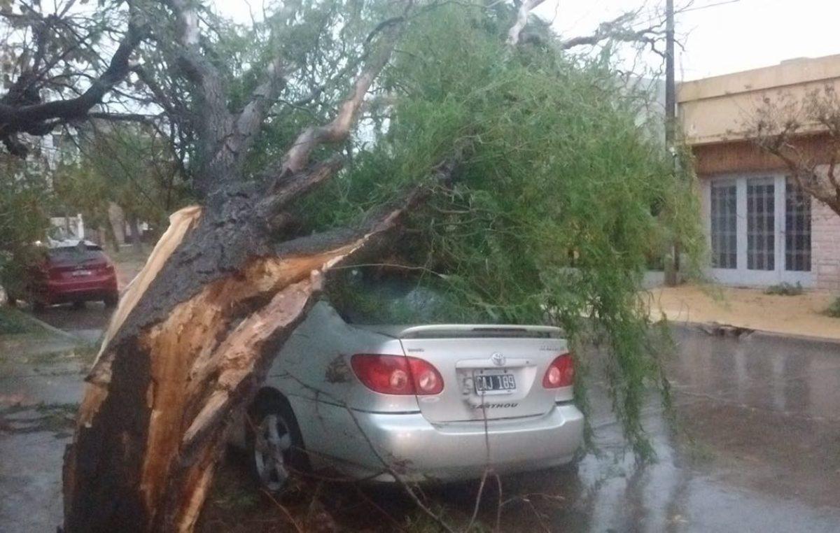 Un fuerte temporal azotó a la ciudad de Carlos Casares