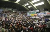 Multitudinario acto en Ferro: Las centrales llamaron a construir la unidad
