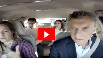 """Con un video viajando en auto, Macri y Vidal inauguraron el """"bypass"""" de la Ruta 5 en Luján"""