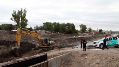 La Plata / Avanzan las obras hidráulicas para la prevención en Gestión del Riesgo