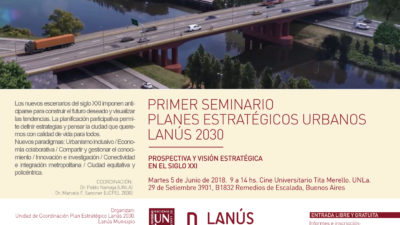 Lanús planea transformaciones urbanas para 2030