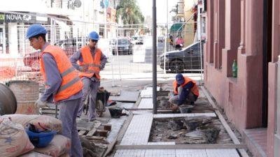 San Nicolás / Avanzan las obras para embellecer el casco histórico y el centro comercial