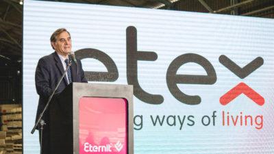 Con una inversión de 250 millones de pesos, ETERNIT Argentina presentó su nueva línea de producción de placas cementicias