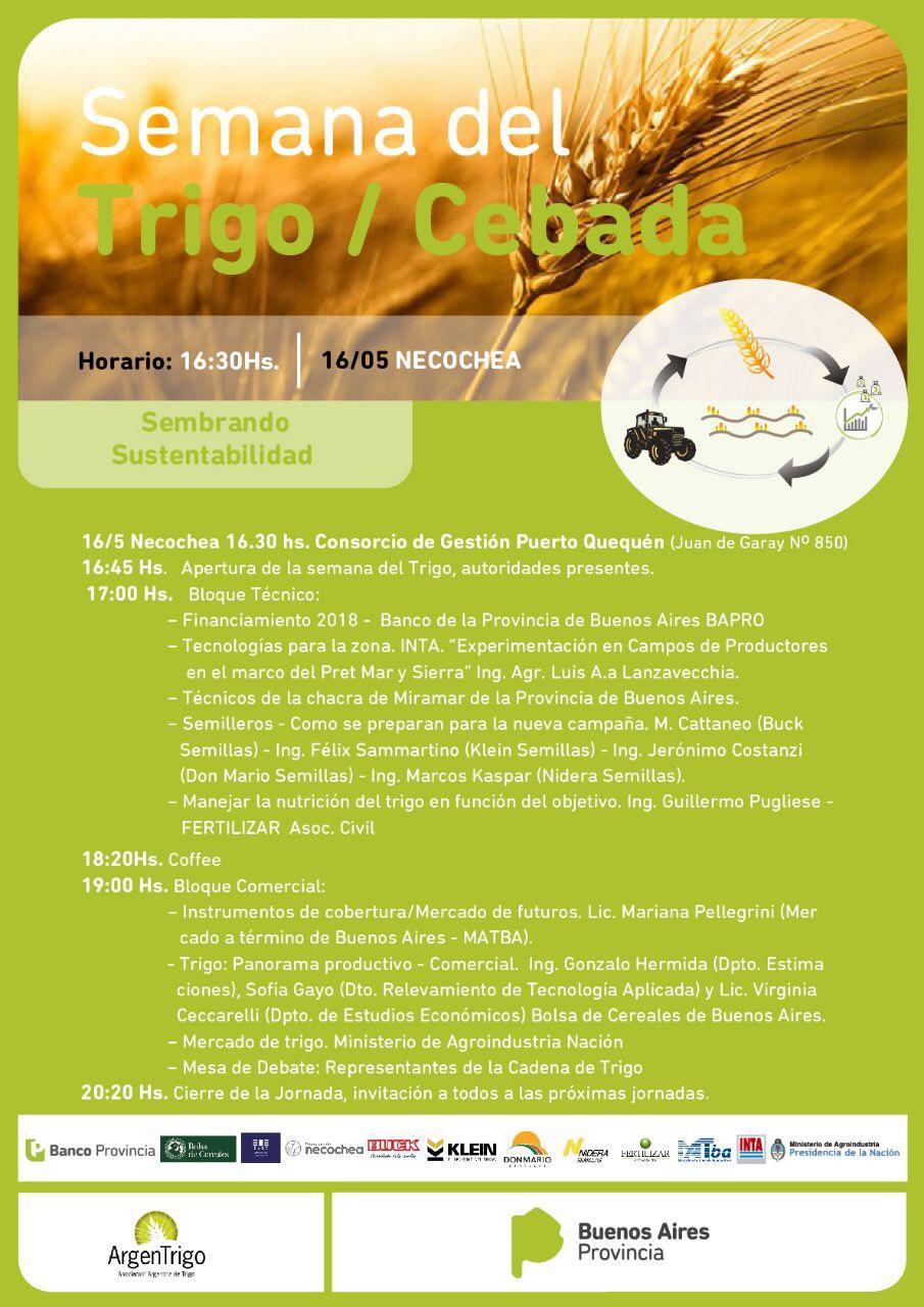 Sigue adelante la Semana Provincial del Trigo/Cebada en Tandil y Necochea