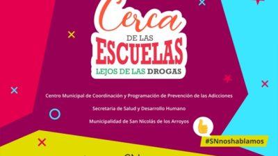 """Se presentó en San Nicolás el proyecto """"Cerca de las escuelas, lejos de las drogas"""""""