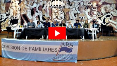 """VIDEO / La lucha de los trabajadores del ARS al ritmo de """"El pibe de los astilleros"""""""