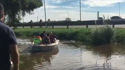 Video / El intendente de Pilar fingió un operativo en las zonas inundadas