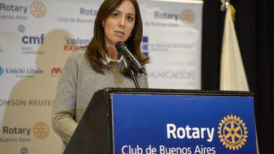 Vidal descartó toda posibilidad de ser candidata a presidente en 2019