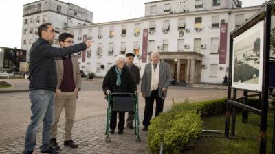 """Tagliaferro estuvo con ciudadanos ilustres en la muestra """"Morón Histórico"""""""