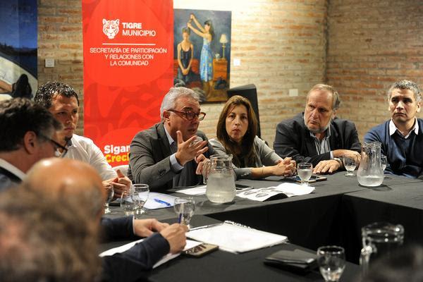 """Tigre / Zamora se reunió con comerciantes e industriales para """"afrontar la crisis argentina"""""""