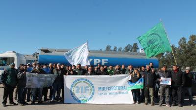 """La Plata: """"El acatamiento al paro de Camioneros fue total"""", dijo Forte desde YPF"""