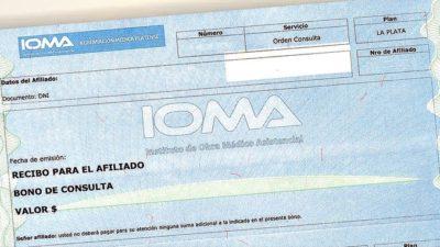 Por decisión unilateral de los colegios médicos, aumentará un 40% el valor del bono de consulta para los afiliados de IOMA