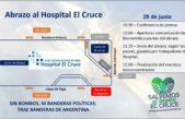 Se realiza un abrazo solidario sobre el Hospital El Cruce en Florencio Varela