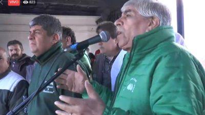 """Moyano se plantó contra el 15% y la reforma del convenio: """"no nos van a comprar"""", dijo"""
