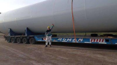 Llegaron los primeros aerogeneradores para el Parque Eólico de Patagones