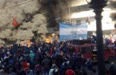 Trabajadores del Astillero Río Santiago marcharon en La Plata ante un exagerado dispositivo de seguridad