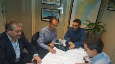 Bolívar / Pisano gestionó en Camuzzi nuevas obras para el distrito