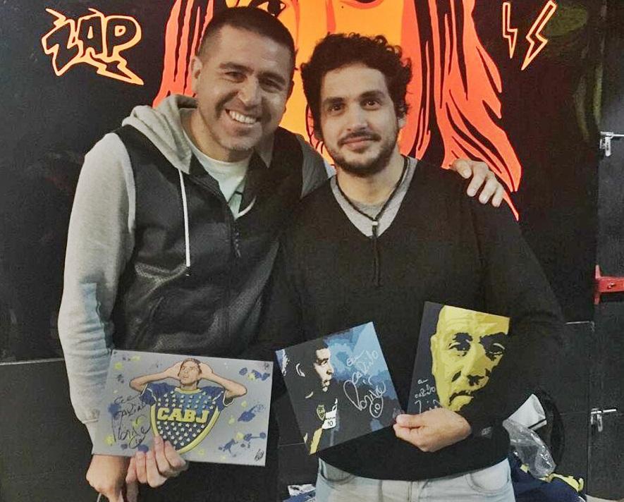 La increible historia del pintor caserense que enamoró a Riquelme con sus cuadros