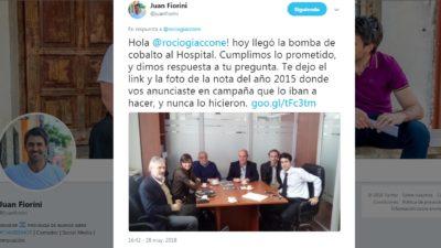 Junín / Por una bomba de cobalto, Juan Fiorini sacó a pasear a la diputada Giaccone