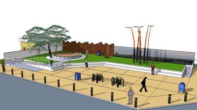 Monte Hermoso / Los chicos de la escuela Técnica dirigen la construcción de una plaza