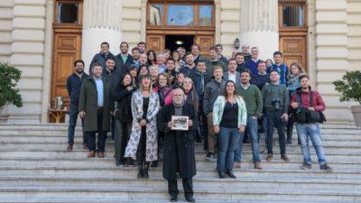 """Reconocieron en la Cámara de Diputados al periodista Jorge """"Bigote"""" Manchiola por sus 50 años en la profesión"""