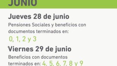 IPS informa que mañana 29 los jubilados y pensionados cobraran sus haberes de junio y medio aguinaldo