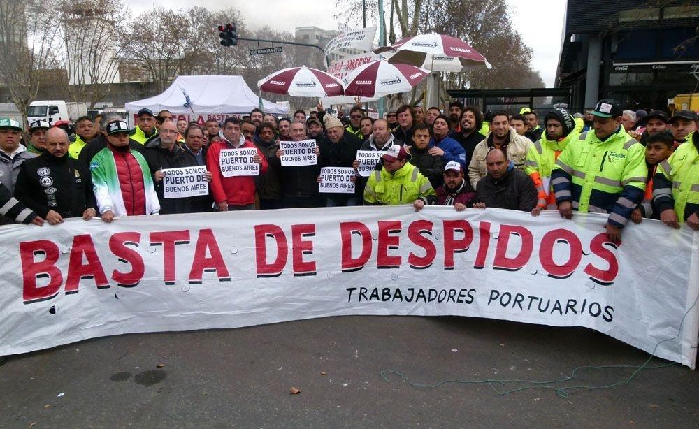 Continúa el acampe en el Puerto de Buenos Aires contra los 160 despidos