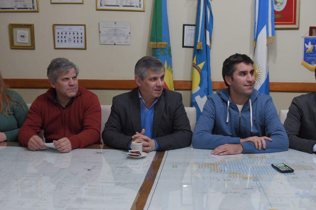 Mosca con Guillermo y Fabio Britos
