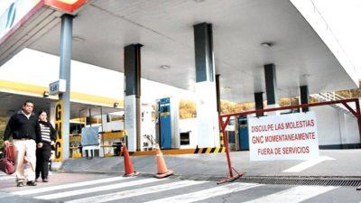Por el frío, se cortó el expendio de GNC en estaciones de toda la provincia