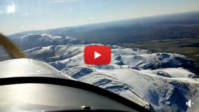 Buenos Aires también tiene sus picos nevados: mirá un video sobrevolando las Sierras de Ventania