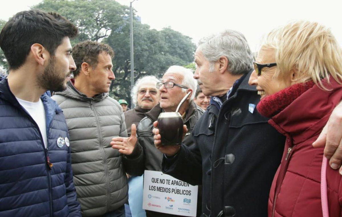 2019 en la mira: Felipe Solá se mostró con Facundo Moyano y Guillermo Chaves en el día de la independencia