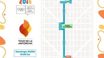 El 'Tour de la Antorcha Olímpica' iniciará su recorrido en el país por la traza fundacional de La Plata