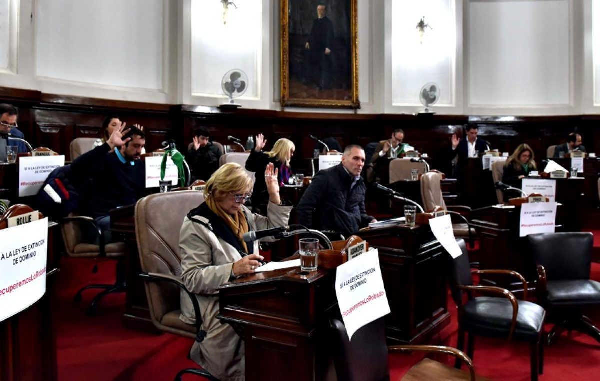 La Plata / El Concejo Deliberante pidió al Senado que sancione la Ley de Extinción de Dominio