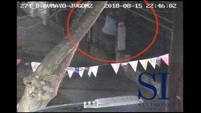 San Isidro / Detuvieron a un delincuente gracias a las cámaras de seguridad