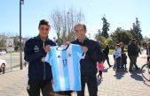 Llegó a Bolívar Enzo Stampone subcampeón argentino