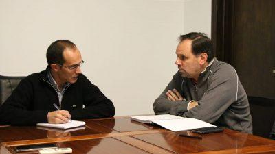 """Pisano y Weber planifican actividades sociales """"El voley es para Bolívar un símbolo de la ciudad"""""""