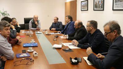 Lanús/ Grindetti, Insaurralde y Cascallares se reunieron con nuevos directivos de Edesur