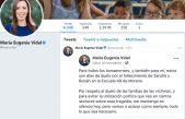 Vidal no habló sobre las muertes en Moreno, pero si se expresó a través de facebook