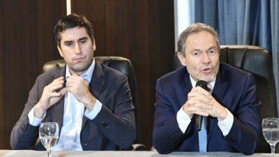 Ferrari acompañado por Mosca pasó por diputados y habló de los peligros de internet en la trata de personas