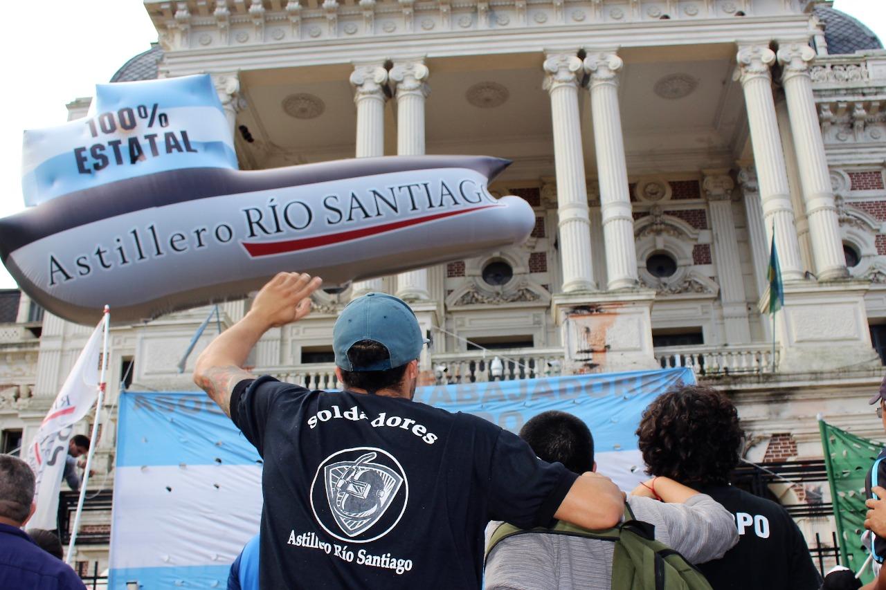 La justicia laboral falló a favor de los trabajadores del Astillero Río Santiago