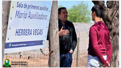 H. Yrigoyen / El intendente participó del inicio de la escuela municipal deportiva en Herrera Vegas