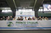 """Hugo Moyano en Ferro: """"Hablando con el FMI no se soluciona el problema"""""""