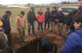 Gral Alvear / El Intendente Capra participó de una clase con alumnos de la Escuela Agraria