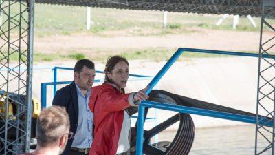 Vidal visitó Guaminí a pocas semanas de la asunción de Nobre Ferreira y puso en marcha la estación de bombeo en Ruta 65