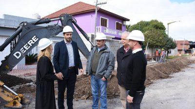 Los legisladores de Cambiemos Celillo y Lordén recorrieron los distritos de Azul y Olavarría inspeccionando los avances de obras