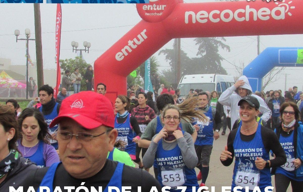 """Necochea / Se corre la """"Maratón de las 7 Iglesias"""" en Quequén"""