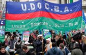 """Udocba moviliza a Plaza de Mayo: """"este gobierno desprecia a los trabajadores"""", dijo Salcedo"""